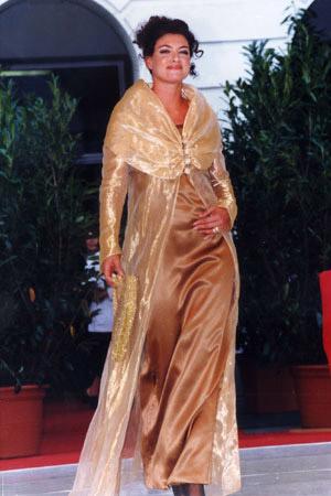 Elegantes Abendkleid mit Robe