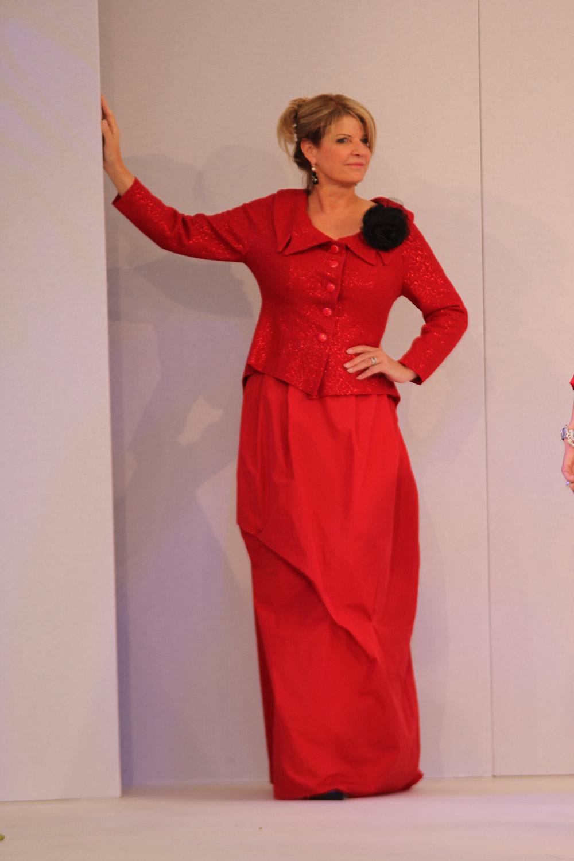 Abendmode - außergewöhnliches Outfit handgenäht aus Krefeld